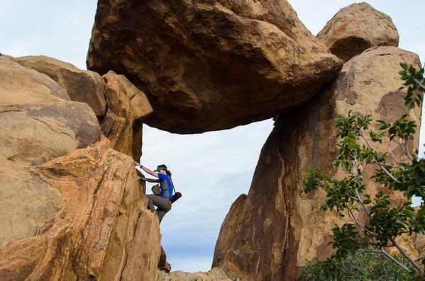 Luke; big bend national park; grapevine hills; texas Luke boulders on Balanced Rock.