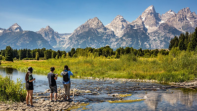 Viewing the Teton Range