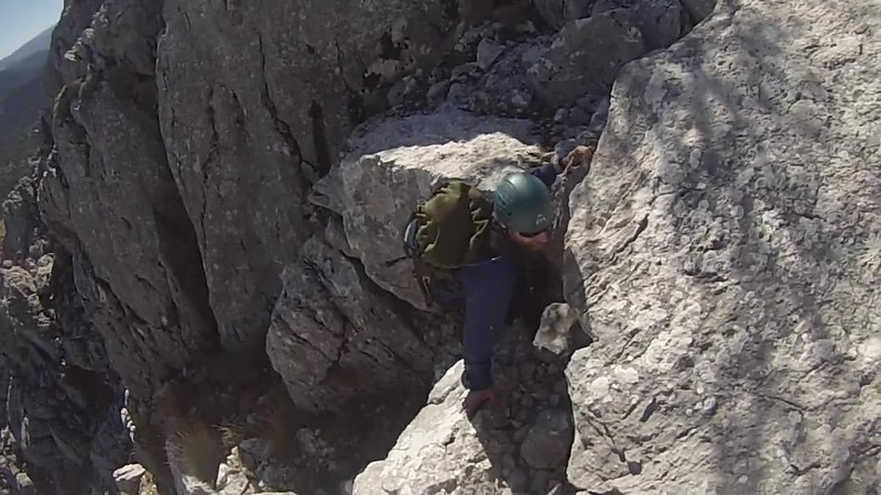 Scrambling in the Sierra de Huetor Oct 2014