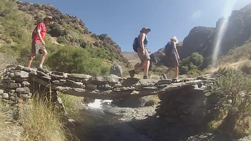 Walking in the Barranco de Poqueira, Sierra Nevada
