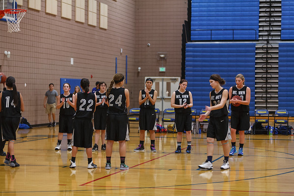 2015 MVHS Girls JVB BB at Marana High