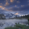 Mount Shuksan sunrise at Picture Lake