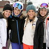 Many enjoy Wachusett Mountain Ski Area in Princeton on Friday, Jan. 10, 2020. Enjoyiing the day on the mountain is, from left, Jackie Dizney, 18, Brianna Stern, 23, Carlie Stern, 18, and Cassie Mazzone, 22, all from Foxboro. SENTINEL & ENTERPRISE/JOHN LOVE