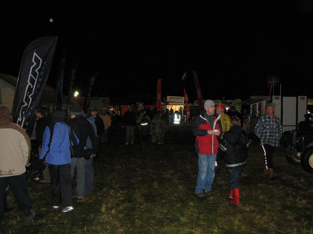 the pits area after start