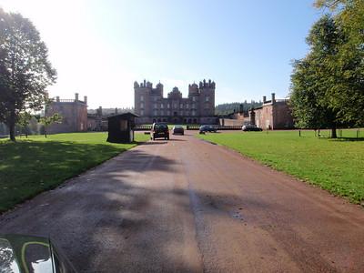 Approach road to drumlanrig castle