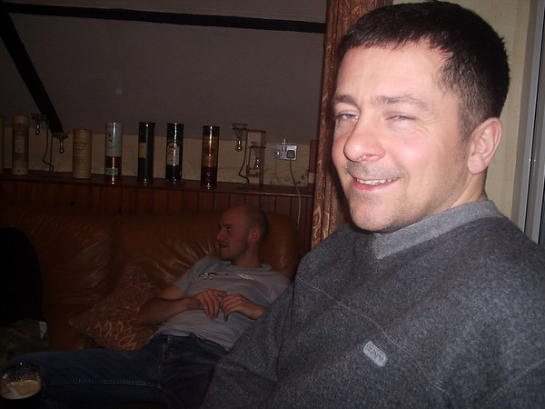 dave after a full day on the bike and two pints