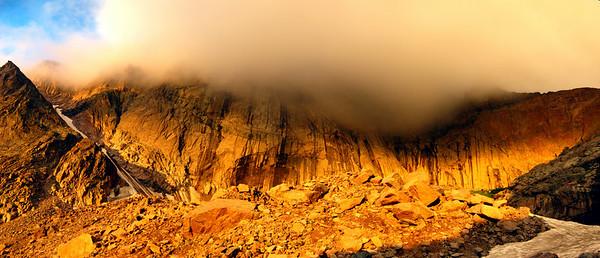 Sun Painted longs peak