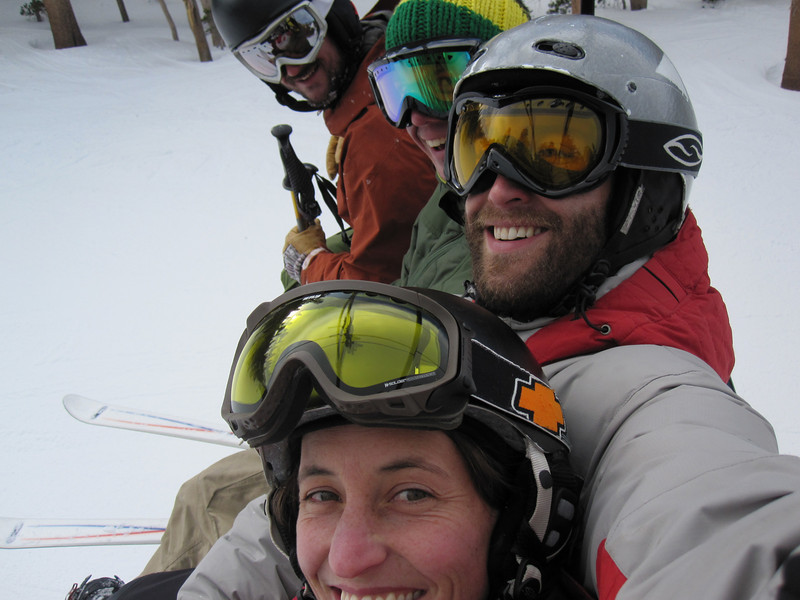 Happy chairlift ride!