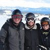 Galushas - Brian, Tim, and Kerry - Tahoe in background.  Top of Silverado lift.