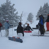 Holy crap.  Look at the crew atop Granite Chief in the dumping snow.