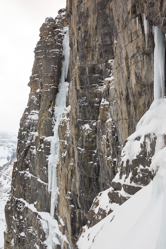 """If this was a first ascent, Nick and Karena will name it """"Ziggy Stardust"""", M5 WI5."""