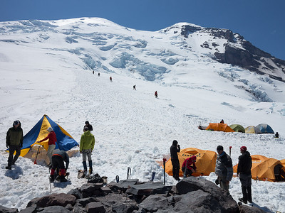 It's almost as crowded as K2 Base Camp in 'Vertical Limit'
