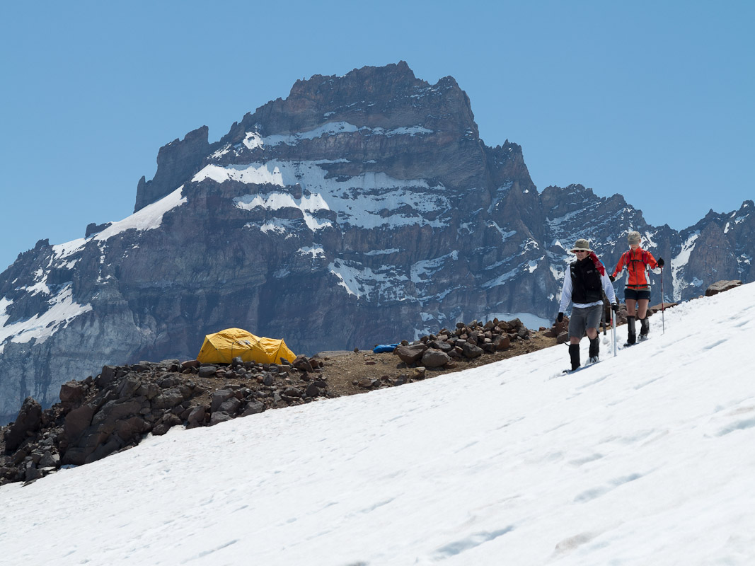 A closer view of Little Tahoma, along the busy path to Camp Schurman.
