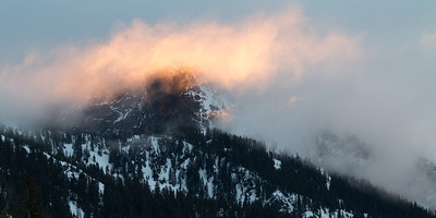 Morning light on the north face of Snoqualmie Mountain.