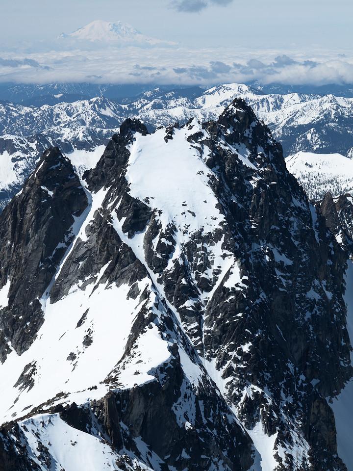 Argonaut Peak, with Mt. Rainier.
