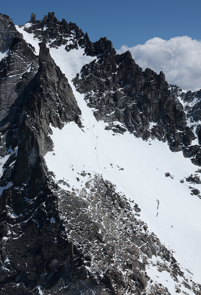 It really is a bit of hike from Colchuck Col to the summit of Dragontail Peak!