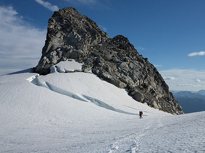 Rocky prow guarding the approach to the Inspiration Glacier.