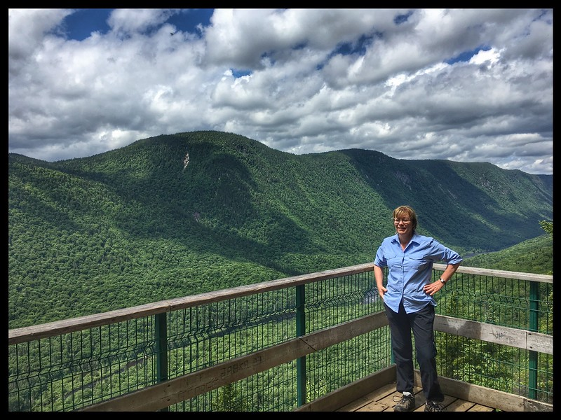Viewing Platform on Le Loups Walk, Jacques Cartier National Park, Quebec.