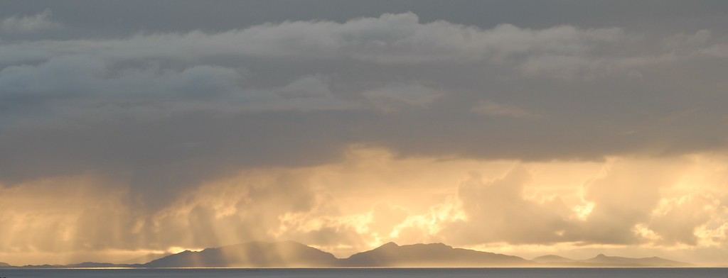 Towards North Uist from Glendale, Skye, Scotland.