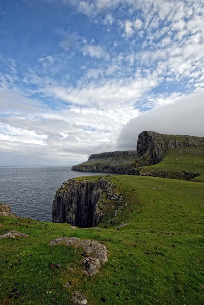 From Neist Point to An t-Aigeach cliffs.
