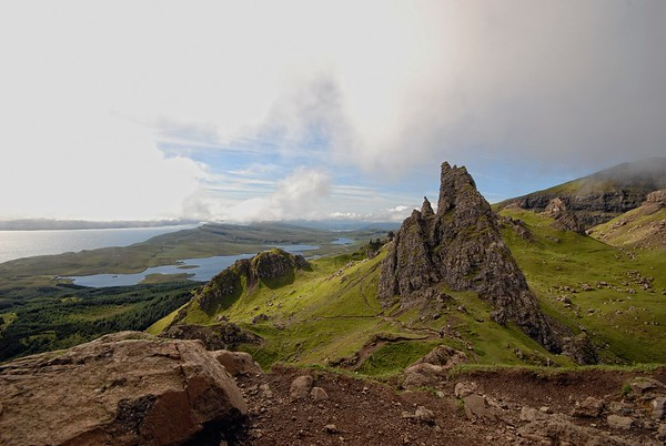 From The Old Man of Storr towards Loch Leathan.