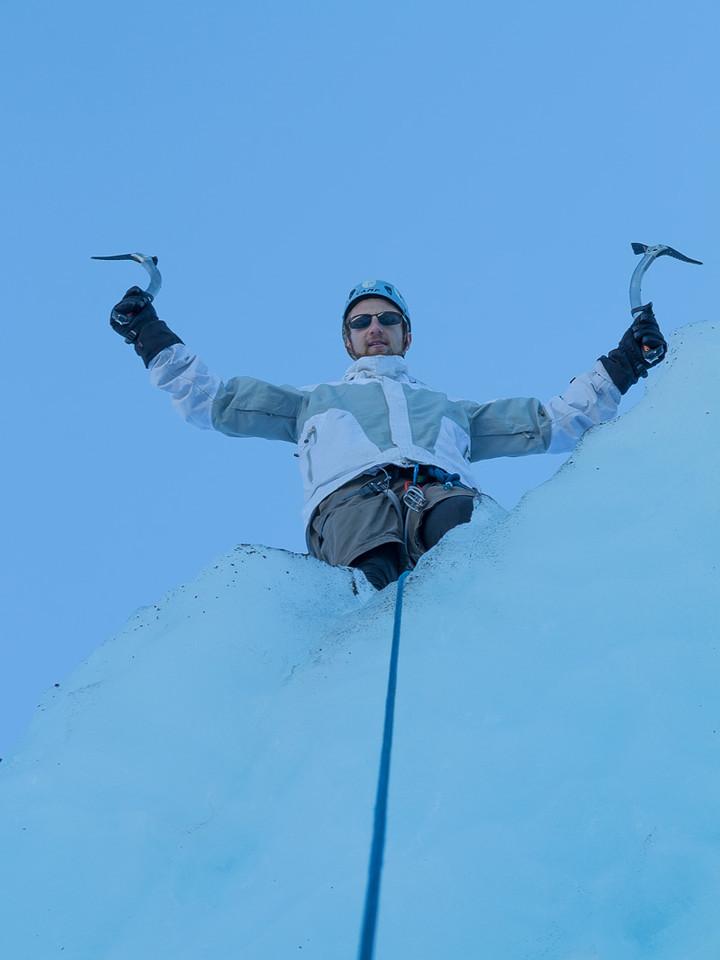 Josh's first ice climb!