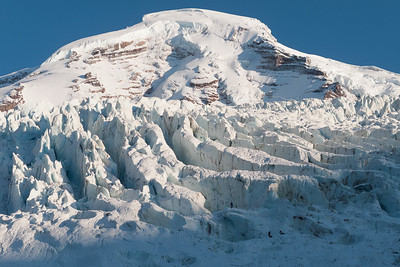 October afternoon light on the lower Coleman Glacier