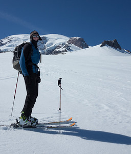 Jeff and I skied onto the Paradise Glacier below Anvil Rock.