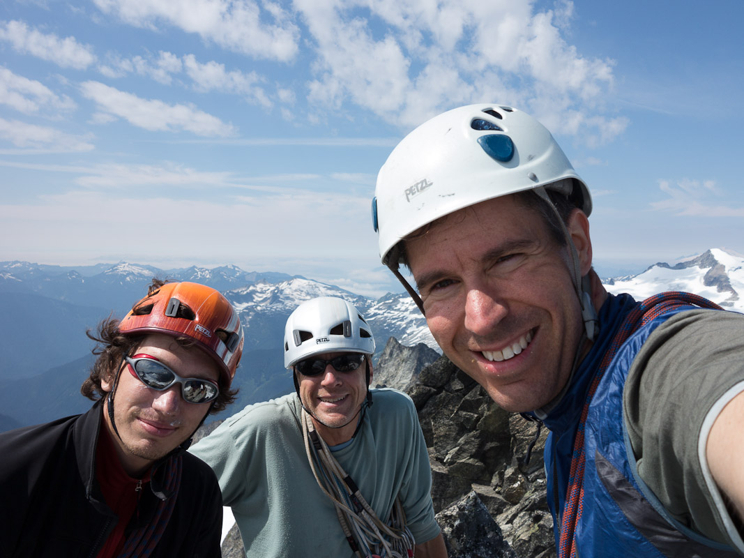 The three of us on top of Forbidden Peak.