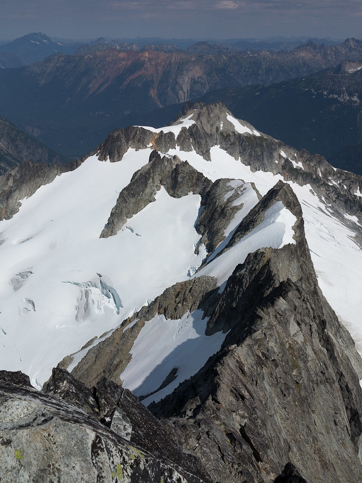 The Northwest Face of Forbidden's North Ridge is closer, but still a remote undertaking.