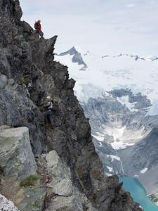 Final steep 4th class terrain before arriving at Forbidden Peak.