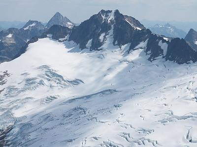 The North Face Couloir of Mt. Buckner looks like it still might go as a snow climb...