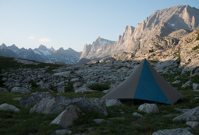 Titcomb Basin Peaks from a camp close to Island Lake.