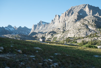 Glimpsing the Peaks of Titcomb Basin from near our camp.