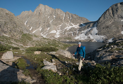 Returning from Ellingwood Peak.