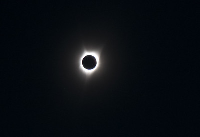 Eclipse - no clouds, but could have used shorter exposures to catch more detail in the corona...