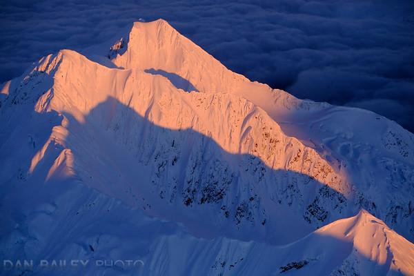 Last light on Peak 5541, Chugach Mountains, Alaska