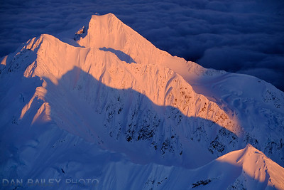 Last light on Peak 5541, Chugach Mountains, Alaska