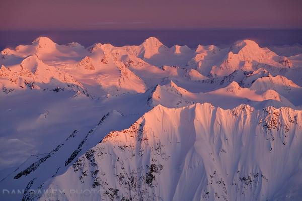 Back row: Mt. Goode, Mt, Gannett and Mt. Gilbert, Chugach Mountains, Alaska