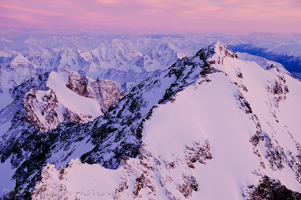 Aerial photo of Eagle Peak, Chugach Mountains, Alaska