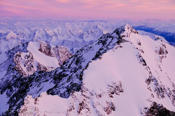 Aerial photo of Eagle Peak, Chugach Mountains, Alaska