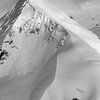 Aerial photo of Bounty Peak at the top of Whiteout Glacier, Chugach Mountains, Alaska