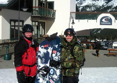My bro & I at the base - great day