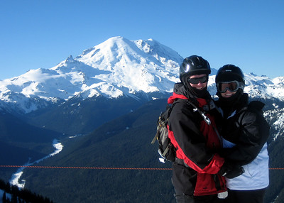 My brother and sister in law atop REX chairlift