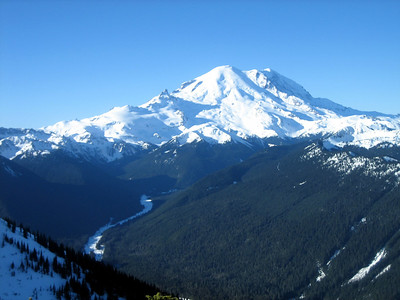 Prestine Mt Rainer - the park has been closed for 2 months now