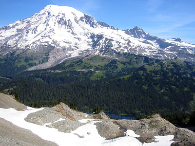 Mt Rainer from Pinnacle Peak area