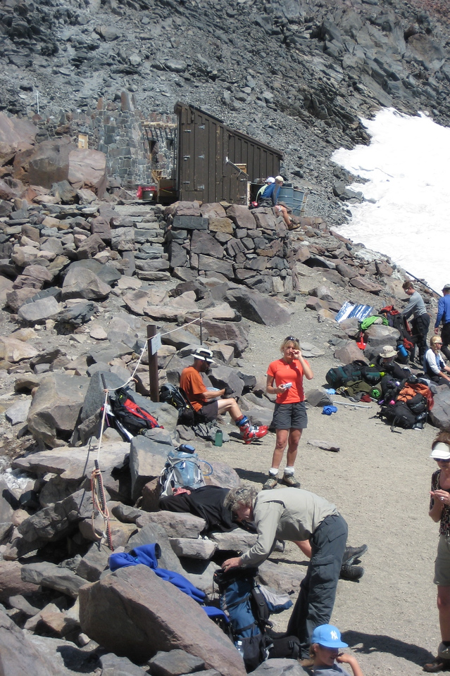 Camp Muir is a busy international mecca - last stop for hikers and middle camp for most climbers. You'll hear many different accents up here.