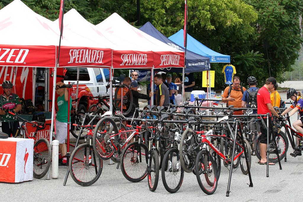IMG_6439  - PLENTY of Specialized bikes on hand to demo..