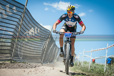 Geoff Kabush (Scott) during the opening lap of the mens Pro XC race.