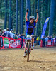 Kate Courtney, victory salute at Boggs, NorCal 2011